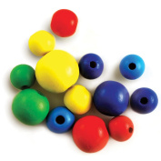 Craftwood Round Beads Assorted 18-30mm 13/Pkg-Coloured