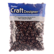 Pony Beads, Opaque Brown, 480pc Pkg