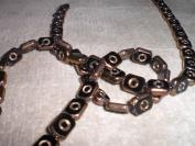 Bead Gallery 8x11mm Eye Table Cut Jet Glass Beads