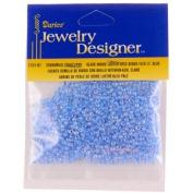 10/0 Seed Beads, Inside Colour Lustre, Lt Blue, 20 Gramme Pkg