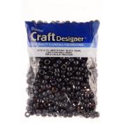 Pony Beads, Black Pearl, 6 X 9mm, 480pc Pkg