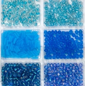 BLUE Glass Bead Set, 32grams