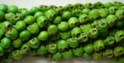 10 Green Howlite Skull Beads (Loose) - Day of the Dead