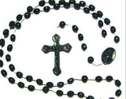 Rosarybeads2u Black Plastic Prison Issue Rosary Beads