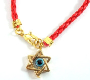 Star of David Magen David Kabbalah Red Leather Thread String Bracelet Evil Eye