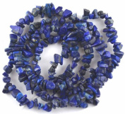 "NUGGET BAROQUE CHIP BLUE LAPIS LAZULI 3X5-5X10MM GEMSTONE BEADS 36"" LOOSE BEADS"