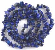 "NUGGET BAROQUE CHIP BLUE LAPIS LAZULI 3X5-5X10MM GEMSTONE BEADS 36"" LOOSE BEADS"