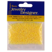 10/0 Seed Beads, Inside Colour Lustre, Yellow, 20 Gramme Pkg