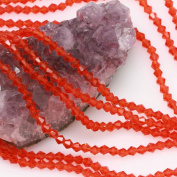 120 Pcs Chinese Crystal Glass Loose Beads Faceted Bicone 4mm Loose Spacer Red