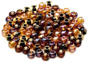 Beaders Paradise LT6EMIX89 Czech Glass Chestnut Mix 6/0 E-Beads in a Tube