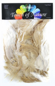 Touch of Nature 30320 Bleached Cock Feathers, 7 grammes