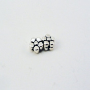 Silver Plated Flower Beads/Charms