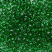 Toho Round Seed Beads 8/0 #7B 'Transparent Grass Green' 8 Gramme Tube
