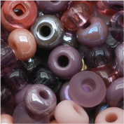"Czech Seed Beads 15cm Mauve Whispers"" Mix Pink & Purple"