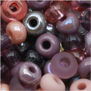 "Czech Seed Beads 15cm Mauve Whispers"" Mix Pink & Purple"