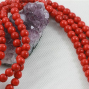 Howlite Turquoise Loose Beads Round 8mm 16 inch strand Red