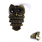 Fabulous Bronze Owl Adjustable Copper-plated Metal Ring 1pcs
