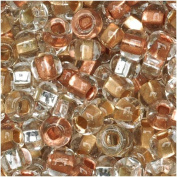 "Czech Seed Beads 6/0 Mix ""Metallic"" Gold Silver Copper"