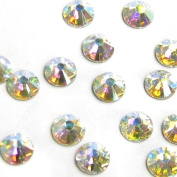 72 pcs. Crystal 2058 Xilion Flatback No Hotfix Clear Aurore Boreale (ab) Foiled Rhinestone SS16 / Findings / Crystallised Element
