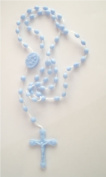 Small N Smart Rosary Prison Issue Rosary Beads - Blue
