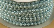 4mm Faux Pearl Plastic Beads on a String Craft Roll Light Blue