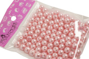 Jewellery Making Colour Glass Pearl Pearlescent Beads, 8mm Round, 1mm Hole, 100pcs