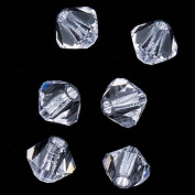 "Preciosa Czech Crystal Bicones Glass Beads 4mm ""Crystal"""