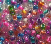 25g 2/0 Czech Mixed Colour-lined Glass Seed Beads