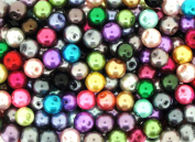 100pcs Mix Lustre Glass Pearls Round 8mm
