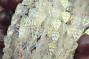 25 Crystal AB Czech Glass Leaf Beads 10MM