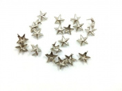 Nicedeco - DIY Accessories Star Studs 100pcs 7MM SILVER Metal Claw Beads Nailhead Punk Stud Rivet Spike CellPhone Decoration Leathercraft