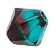 . ELEMENTS Crystal #5328 8mm Bicone Beads Burgundy Blue Zircon Blend