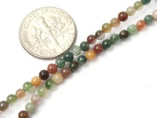 Round Indian Agate Beads Strand 38cm Jewellery Making Beads