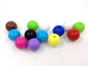 Adored Pony Beads Multi Colour 30 Pcs 15mm DIY Round Shape Plastic Candy Beads ~Jewellery Making~