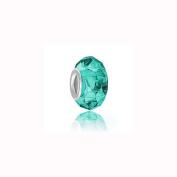 Charm Factory Blue Zircon Glass Bead