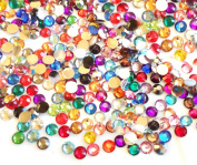 Mixed Colours -- 1000pc 4mm Flat Back High Quality Rhinestones Round 14 Cut Assorted Colours 4mm (16ss) --- by lovekitty