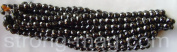 Semi Precious Magnetic Hematite 8 X 12mm 6 sided oval twists