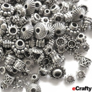 eCrafty EC-1155 100-Piece Bali Style Deluxe Spacer Mix Metal Beads, 100gm, Silver