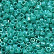 Miyuki Delica Seed Beads 11/0 Opaque Turquoise AB DB166 7.2 Grammes