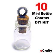 eCrafty EC-4911 Mini Glass Bottles Message Charm Kit with Weddings Wish Jewellery, 1.9cm