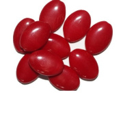 Dark Red Tablet Czech Pressed Glass Beads