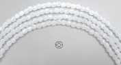3mm (135) White Opal, Czech Fire Polished Round Faceted Glass Beads, 16 inch strand