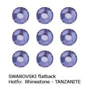 ". Crystal Hotfix Flatback RHINESTONE #2028 Xilion Rose ss10~2.8mm ""TANZANITE"""