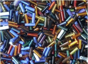 Bugle Beads Size 3 Colourful Glass Bugle Bead Mix