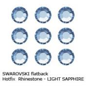 ". Crystal Hotfix Flatback RHINESTONE #2028 Xilion Rose ss10~2.8mm ""LIGHT SAPPHIRE"""