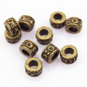 DIY Jewellery Making Antique Brass Bronze Vintage Style Round Bead Spacer with Large Hole