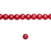1 Strand Red Glass Pearl Spacer Round Loose Beads Fit Necklace Bracelets Wholesale 4x4x4mm 200pcs GP0001-9