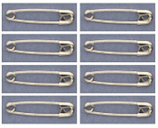 SAFETY PINS Size 0 (2.2cm ) SILVER TONE BULK PK/100 Made in USA