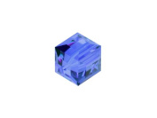 5 Cube 6mm. SAPPHIRE 5601 Crystal Beads.