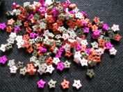 100 Pcs Cute Star Button 2 Hole 6 Mm Mix Colour